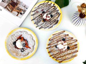 gaufres suédoises maison caramel beurre salé, chocolat, confiture