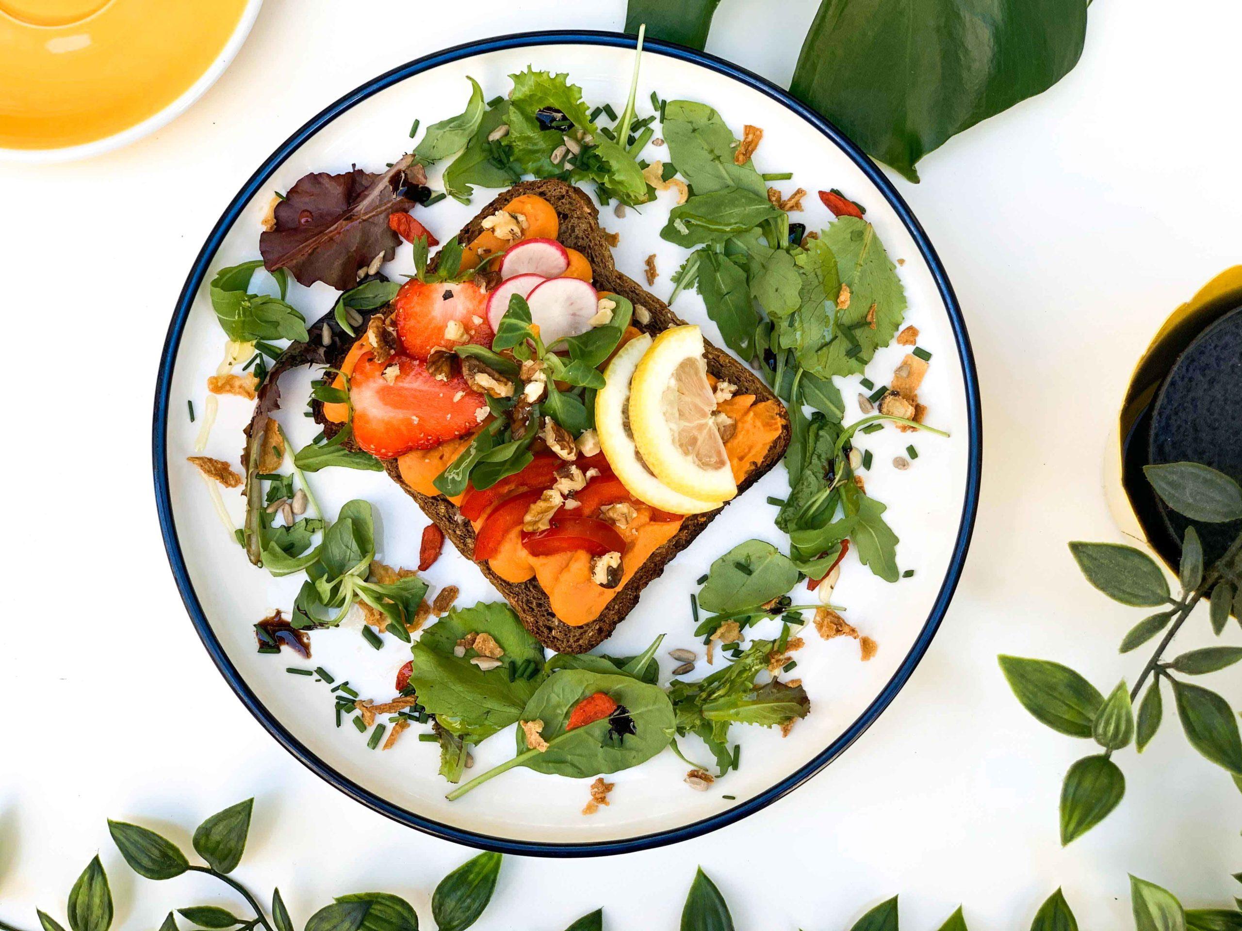 tartine végétarienne et vegan à Bordeaux brunch suzzi