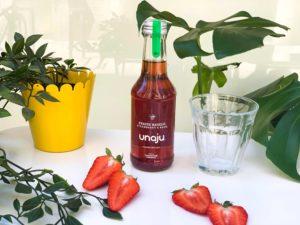 jus naturel bio fraise basilic bordeaux